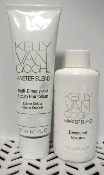 2 PC Combo Kelly Van Gogh MASTERBLEND Hair Color 1- 6G & 1- DEVELOPER