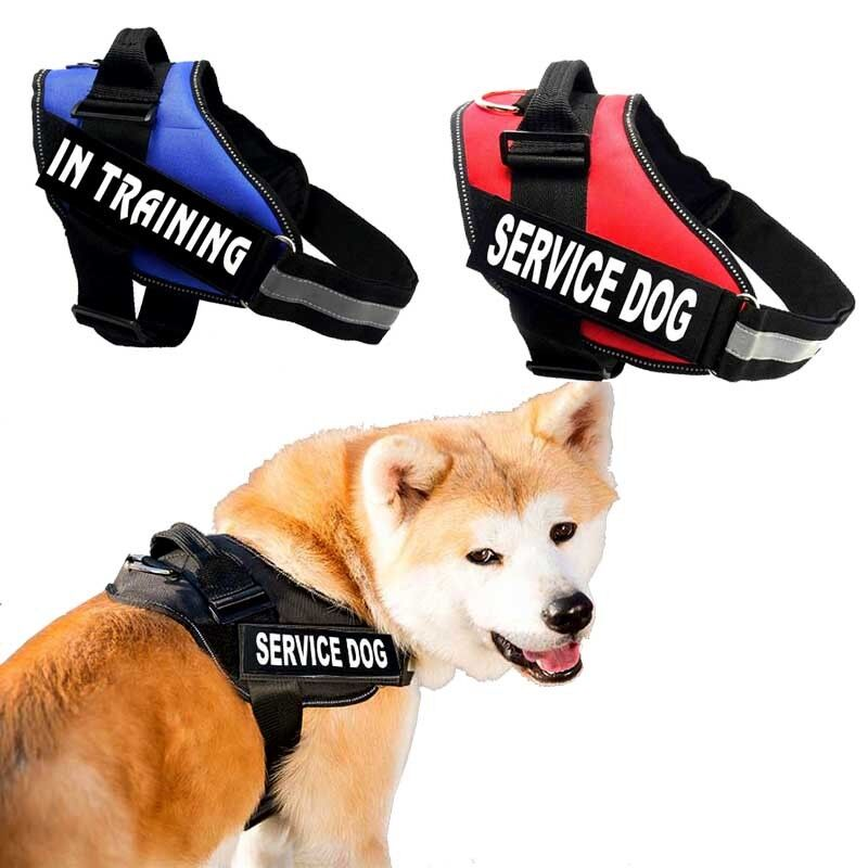 Reflective Service Dog Vest Harness With 2 Removable