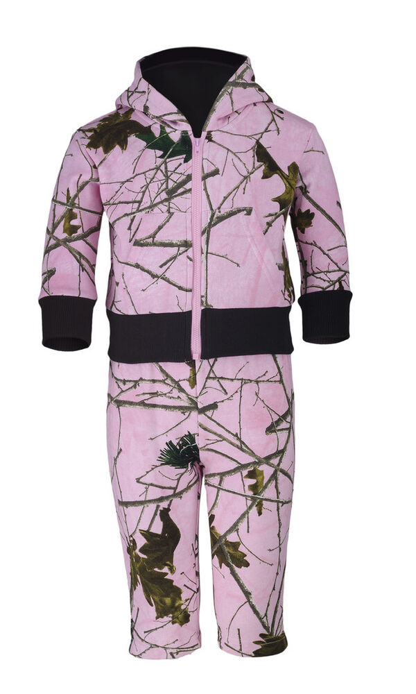 Infant Toddler Baby Girl Cotton Pink Blue Camo Long Sleeve