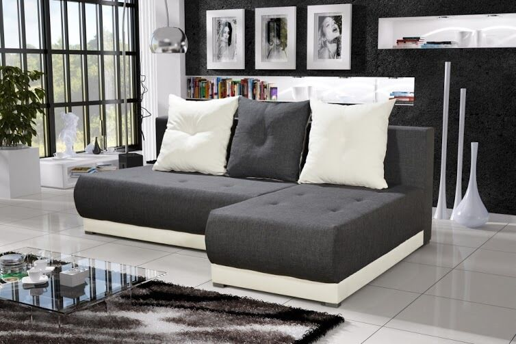 wohnlandschaft eckgarnitur sofa insignia mit schlaffunktion und bettkasten top ebay. Black Bedroom Furniture Sets. Home Design Ideas
