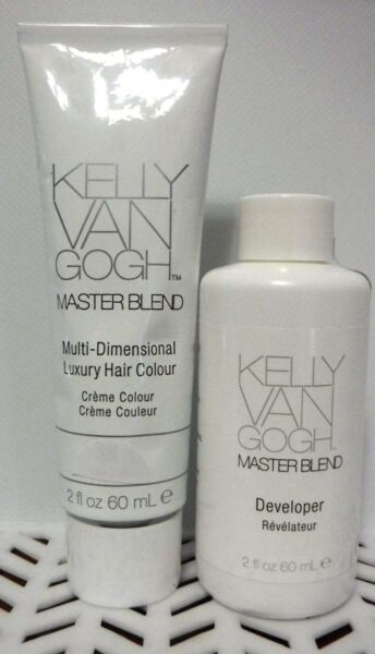 2 PC Combo Kelly Van Gogh MASTERBLEND Hair Color 1- 4RO & 1- DEVELOPER