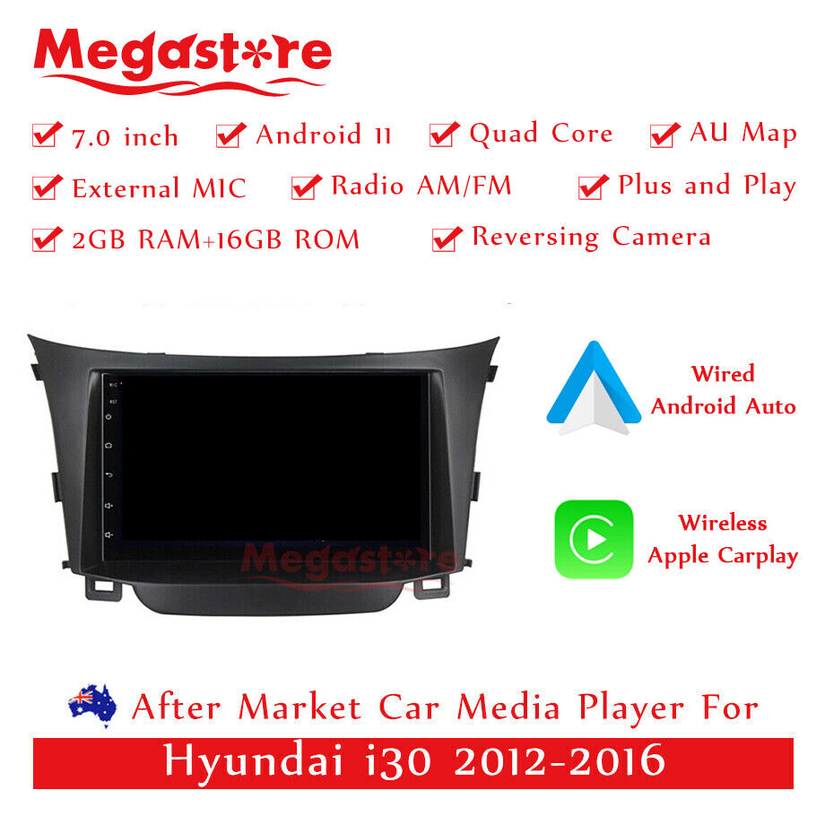 7 car dvd gps stereo navigation head unit for hyundai i30. Black Bedroom Furniture Sets. Home Design Ideas