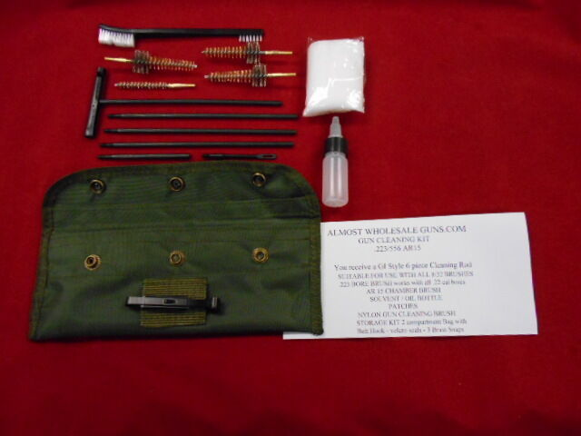 Ar 15 M16 Cleaning Kit 223 556 With 3 Bronze Chamber