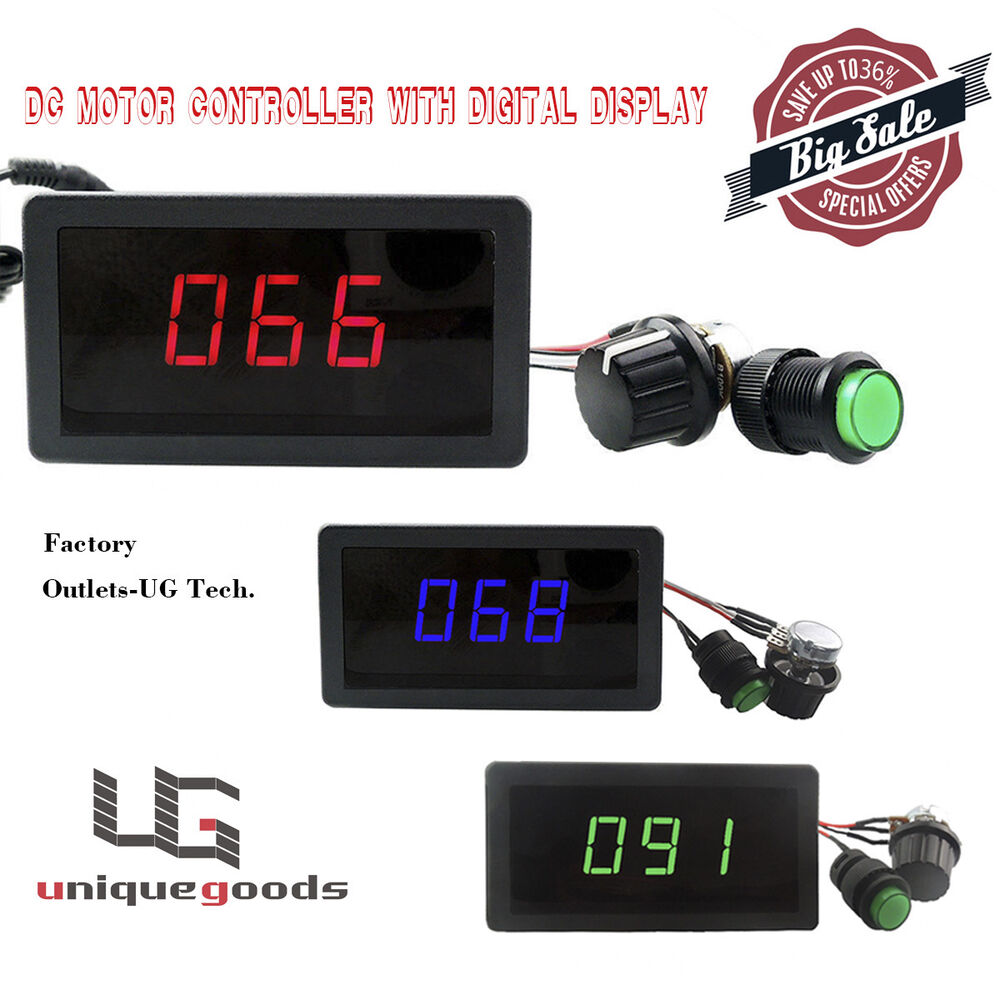 Pwm Dc Motor Speed Controller With Digital Display