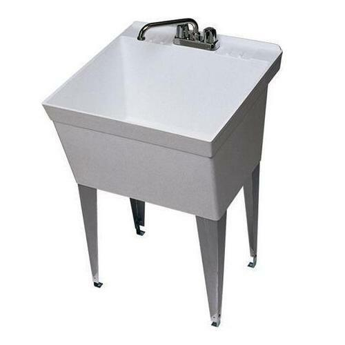 single bowl double faucet bathroom sink zurn single bowl 21 gallon laundry tub utility sink with 2 25736