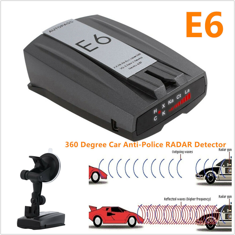 Anti-Police 360° Car 16 Band GPS Speed Radar Detector ...