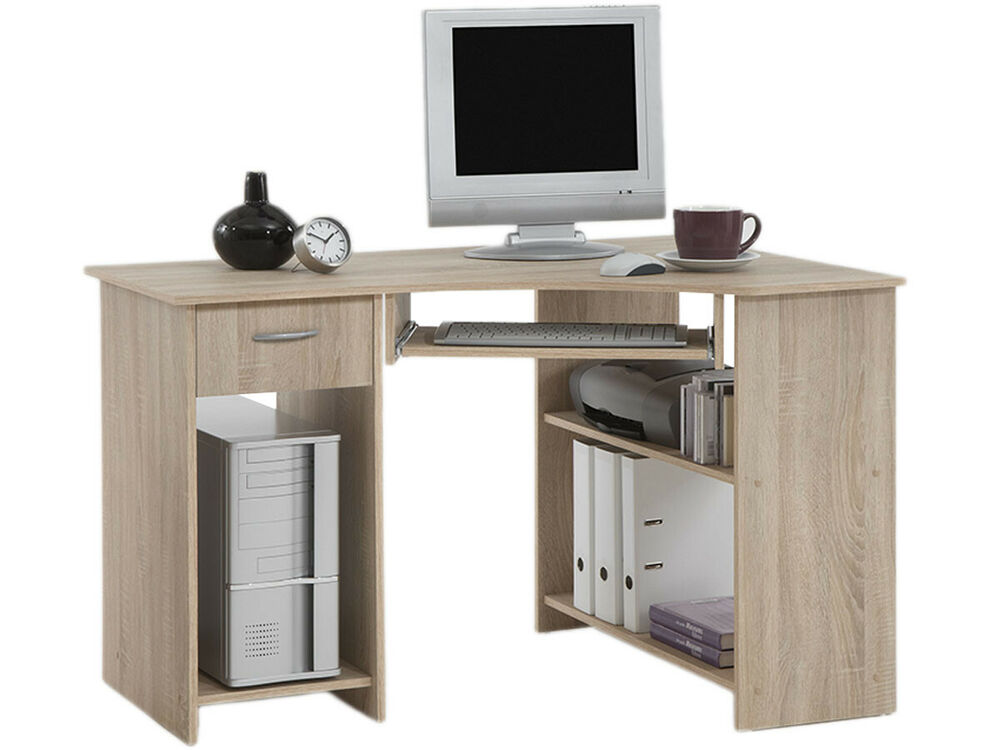 eckschreibtisch schreibtisch arbeitstisch computertisch kinderschre jay eiche ebay. Black Bedroom Furniture Sets. Home Design Ideas