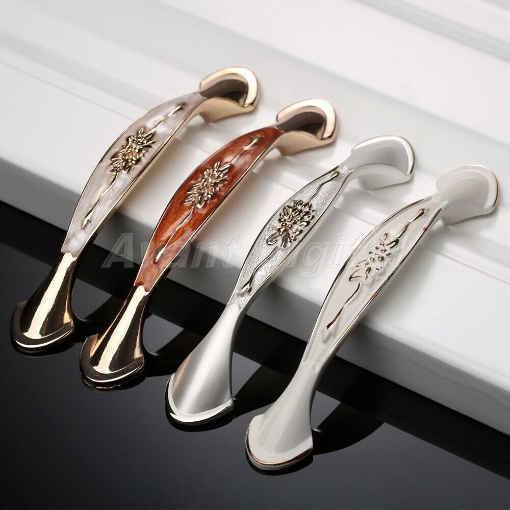 Door Handles Kitchen Cabinets: Vintage Flower Pattern Cabinet Pulls Handles Kitchen