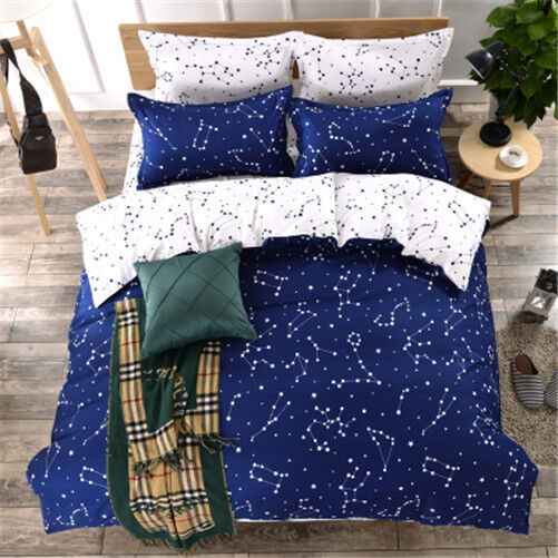 Constellation Single Double King Size Bed Set Pillowcases