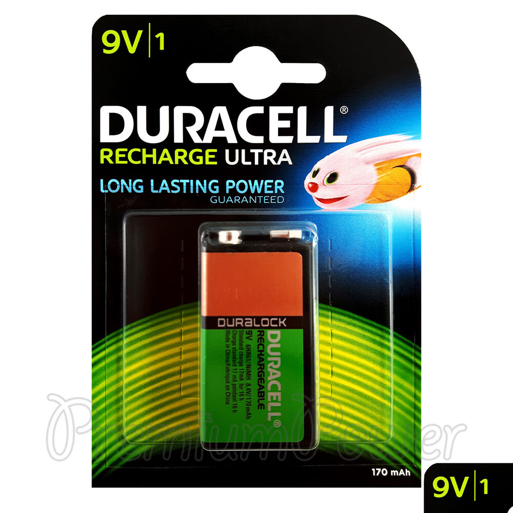 1 x duracell rechargeable 9v battery 170 mah block transistor 6hr61 dc1604 pp3 ebay. Black Bedroom Furniture Sets. Home Design Ideas