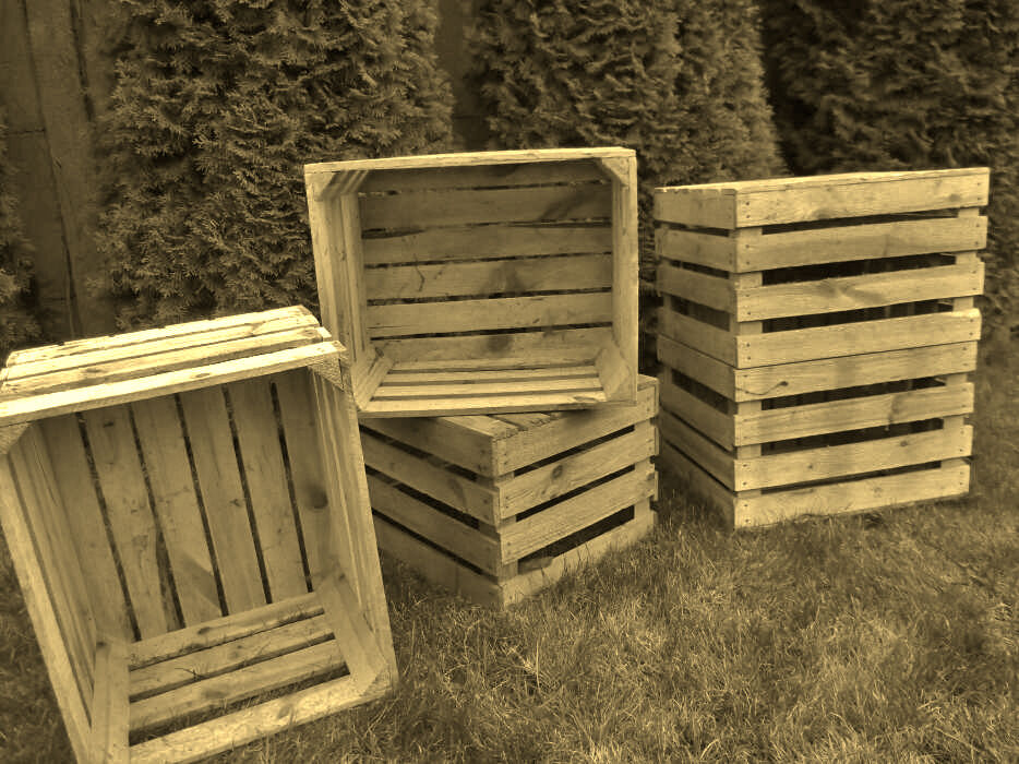 4 x vintage wooden apple crates storage box fruit crates for Used apple crates