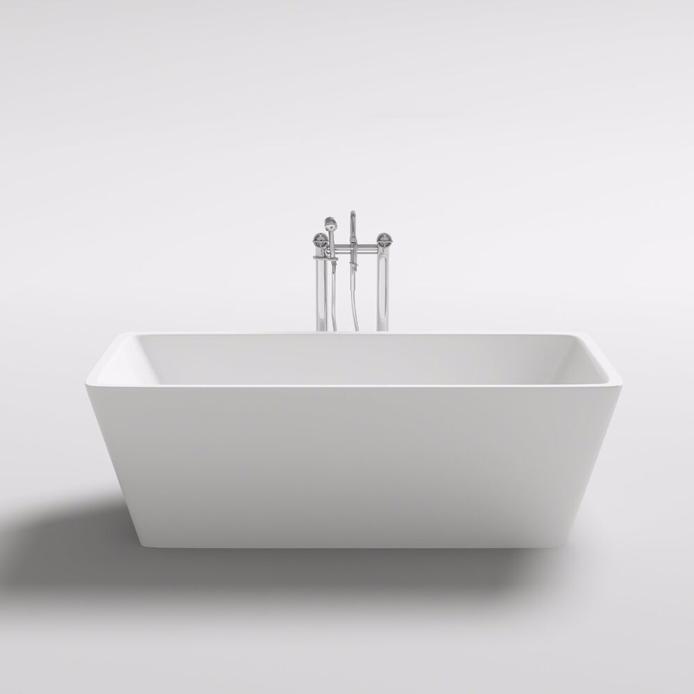1500 x 750 x 580 mm toranto square freestanding acrylic bath tub