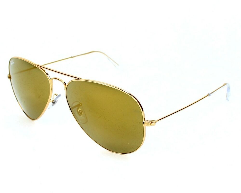 df362cabb242 Details about New Ray Ban Aviator RB 3025 W3276 Gold w Green Gold Mirror  58mm