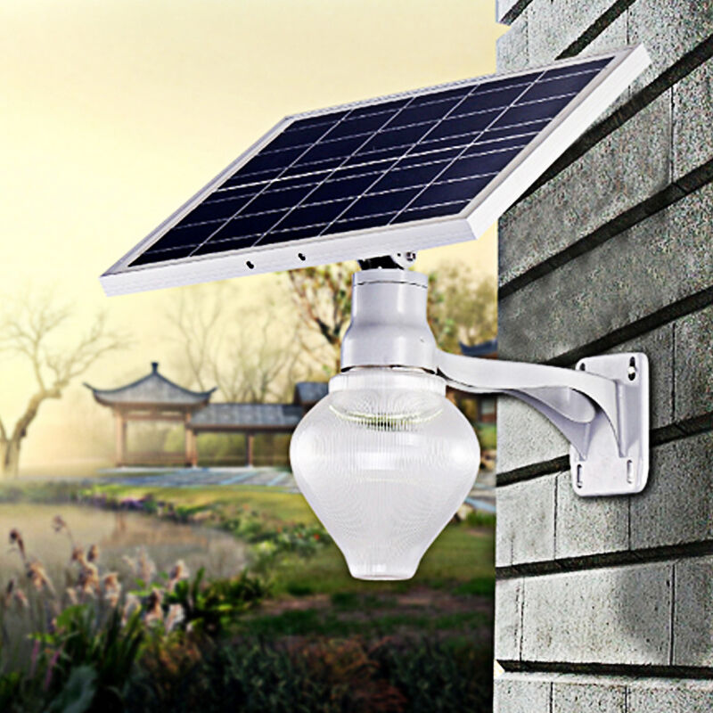 Solar Powered Wall Path Light Fence LED Garden Yard