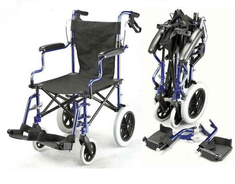 Lightweight Folding Deluxe Travel Wheelchair In A Bag With