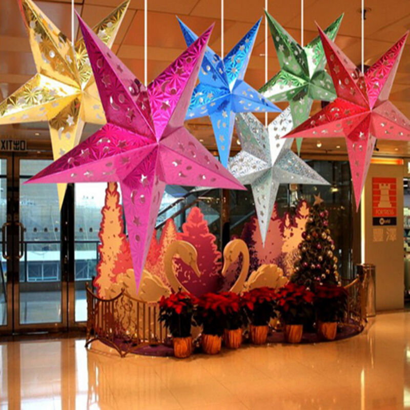 New Xmas String Hanging Star Christmas Party Decoration