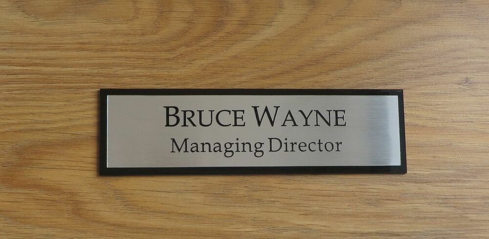 Office Name Plates: Executive Personalised Office Wall Name Plate, Custom