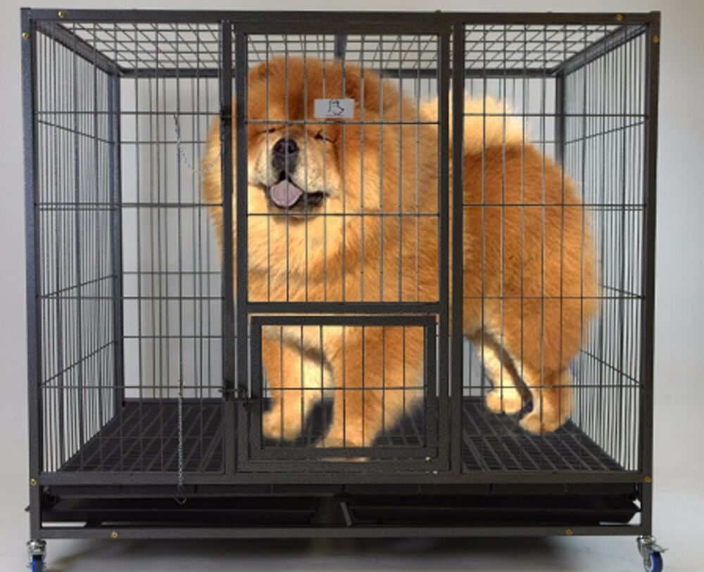 Homey Pet 49 Quot Extra Large Heavy Duty Metal Dog Cage Kennel