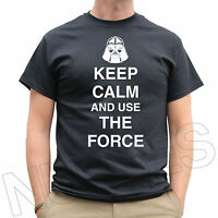Keep Calm And Use The Force Funny Darth Vader Mens Ladies Kids T-Shirt S-XXL