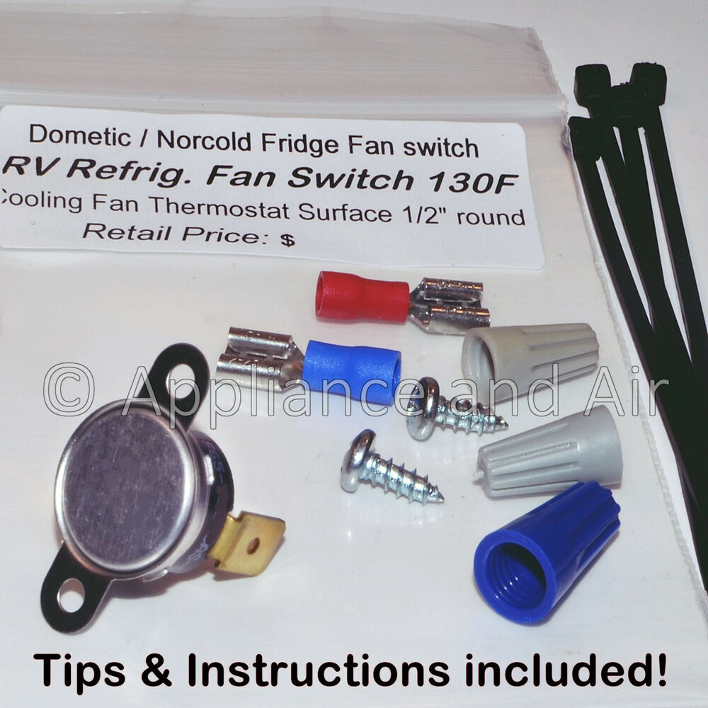 Dometic Refrigerator Cooling Fan Switch Thermostat Rv Camper Boat Norcold Wiring Schematic Fast Shipping Ebay