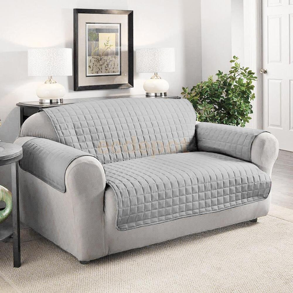furniture protector pets slipcover 2 seat quilted sofa