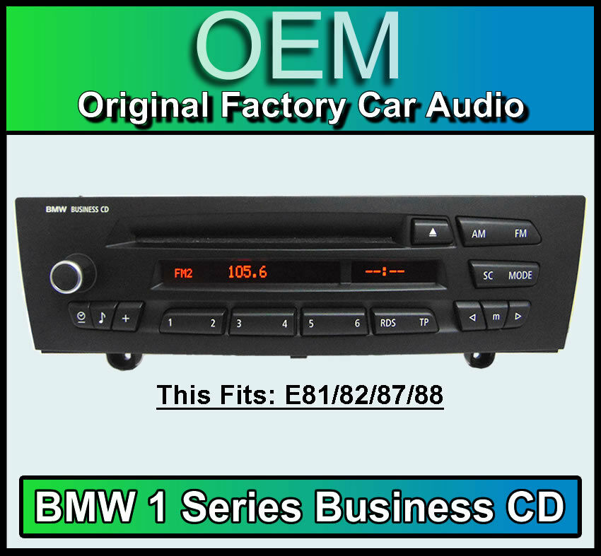 bmw 1 series business cd player aux compatible bmw e81. Black Bedroom Furniture Sets. Home Design Ideas
