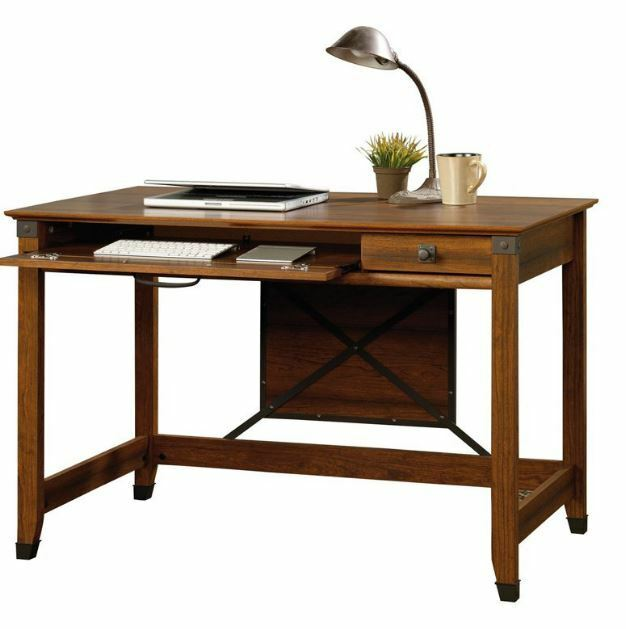 Small Writing Desk With Drawer Wood Computer Laptop Table