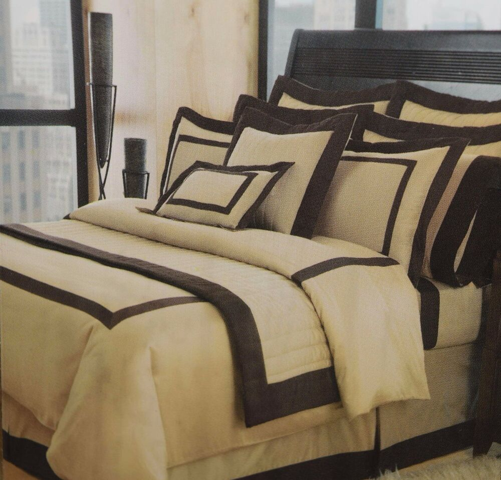 Hotel Collection Brushstroke Coverlet: NEW HOTEL COLLECTION HILLCREST 300 TC KING COVERLET
