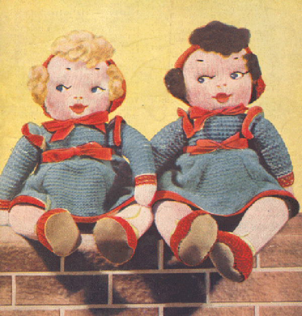 Knitted Rag Doll Pattern : Knitting Pattern- Vintage rag doll knitting pattern in 3 ply eBay