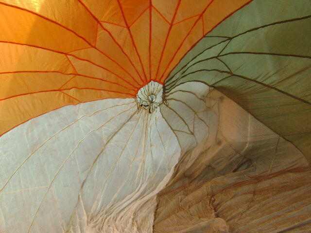 28u0027 Diameter Orange/White/Tan/Green Circular Parachute Canopy (No Holes & Parachute Canopy | eBay