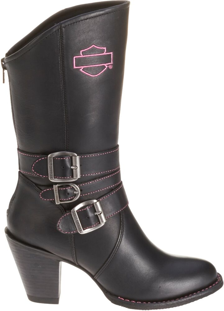 Cool Harley-Davidson Womenu0026#39;s Shawnee Lace Up Black 5-Inch Motorcycle Boots D84399 | EBay