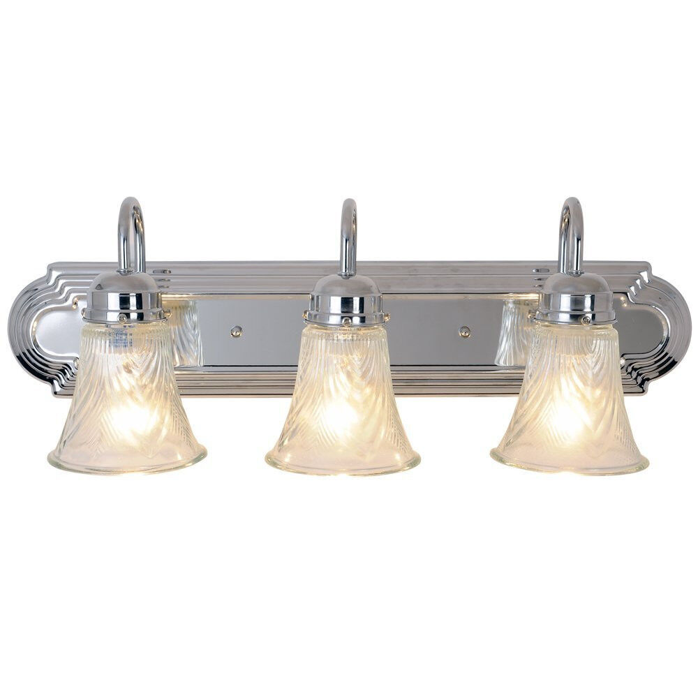 Monument Lighting 24in 3 Light 60 Watt Decorative Vanity Fixture Chrome 671735 Ebay