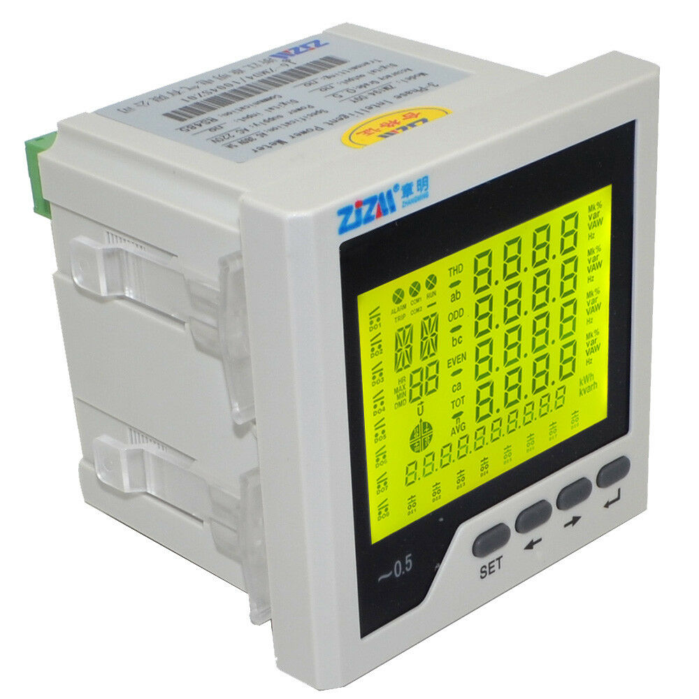 Three Phase Voltage Monitor : Intelligent multifunction p three phase lcd digital