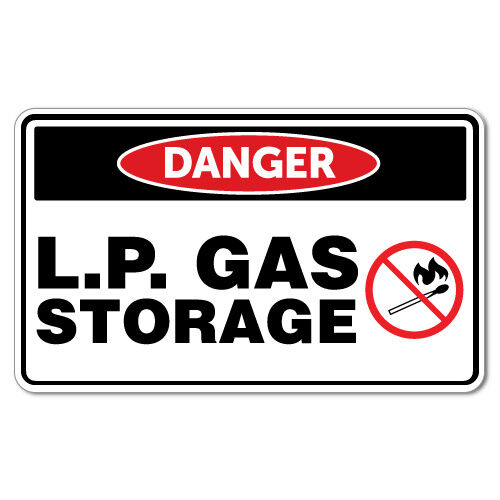 Danger Lp Gas Storage Flammable Sticker Decal Safety Sign