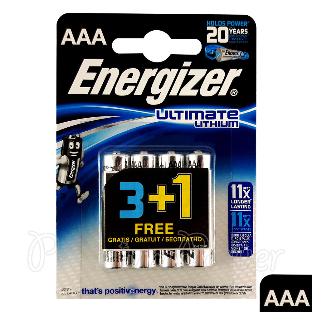 4 x energizer ultimate lithium aaa batteries 1 5v l92 lr03. Black Bedroom Furniture Sets. Home Design Ideas