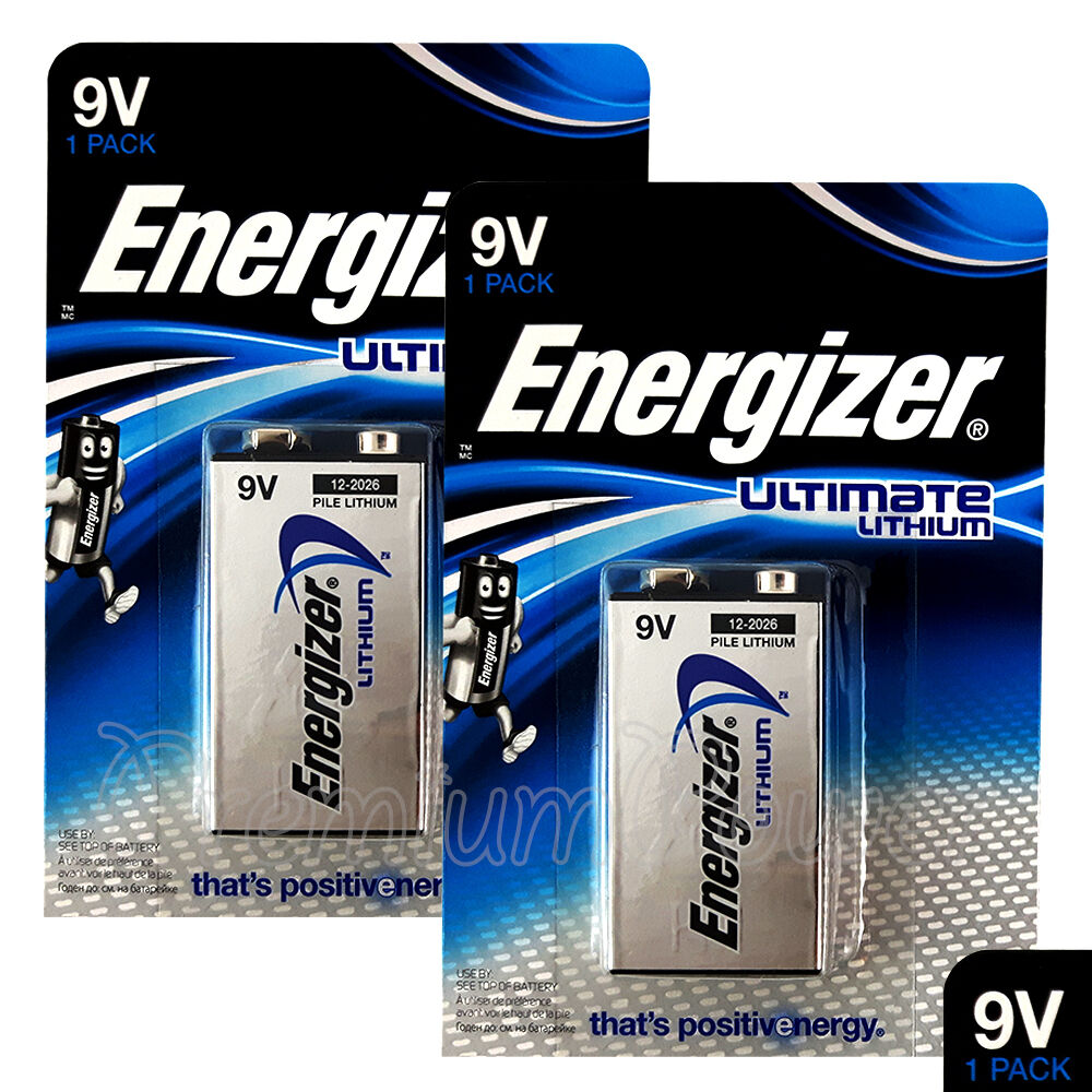 Details About 2 X Energizer Ultimate Lithium 9V Batteries L522 E Block  MN1604 LR22 EXP:2026