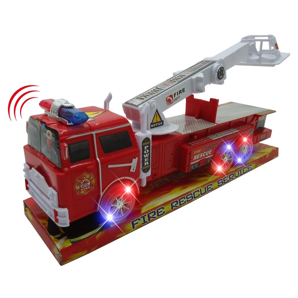 light up fire engine rescue truck with firefighter utility. Black Bedroom Furniture Sets. Home Design Ideas