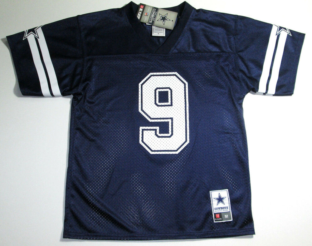 NFL Dallas Cowboys Tony Romo Navy Blue Cool Performance Youth Jersey ... bb58f39ee