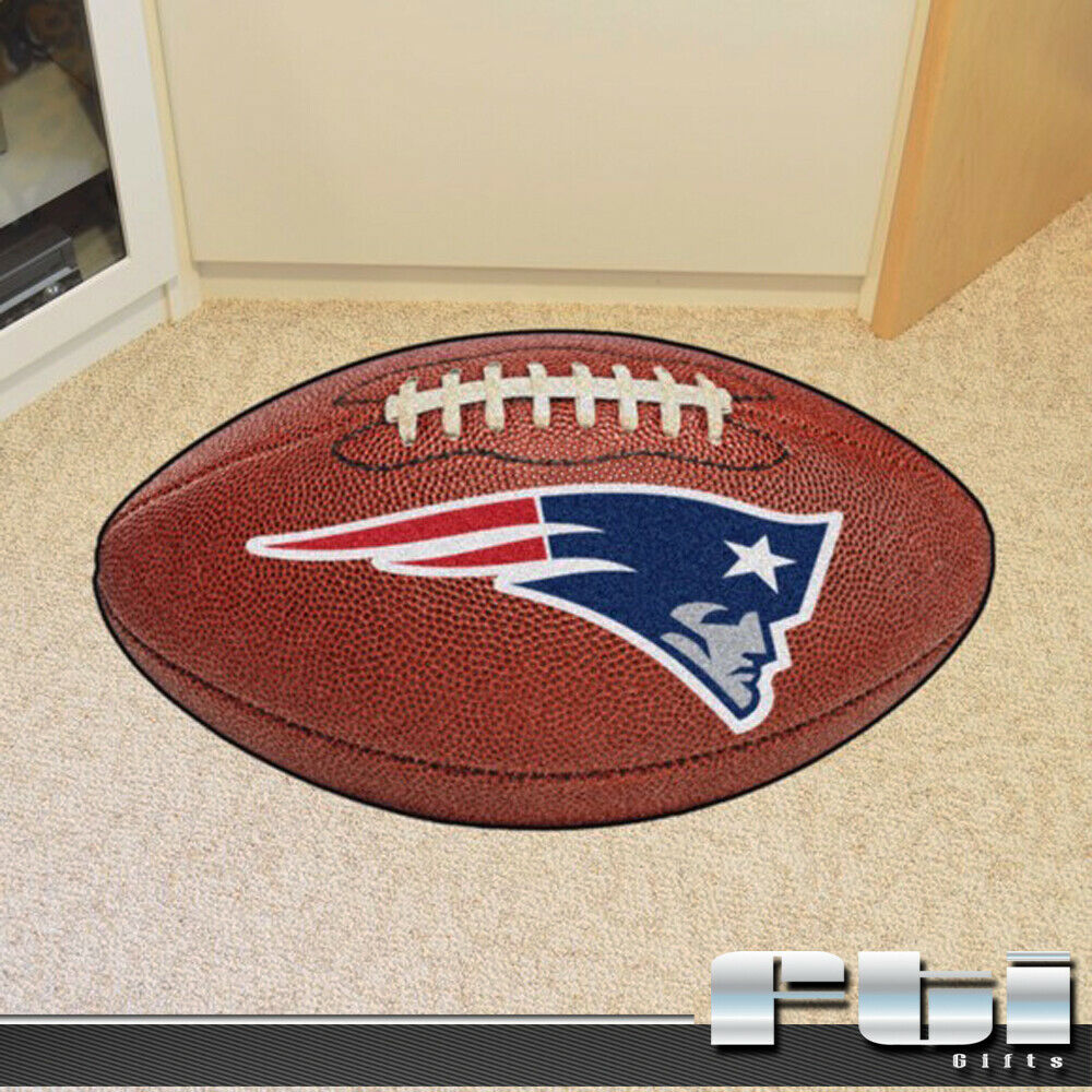 New England Patriots NFL Football Shaped Floor Mat Area
