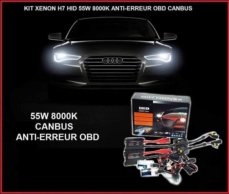 kit xenon ballast canbus anti erreur obd 55w h7 8000k slim. Black Bedroom Furniture Sets. Home Design Ideas