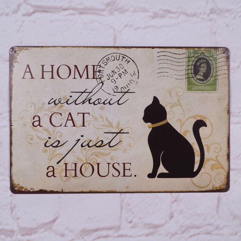 Metal Signs For Home Decor: LE CHAT NOIR Black Cat Sign Antique Metal Tin Signs Poster
