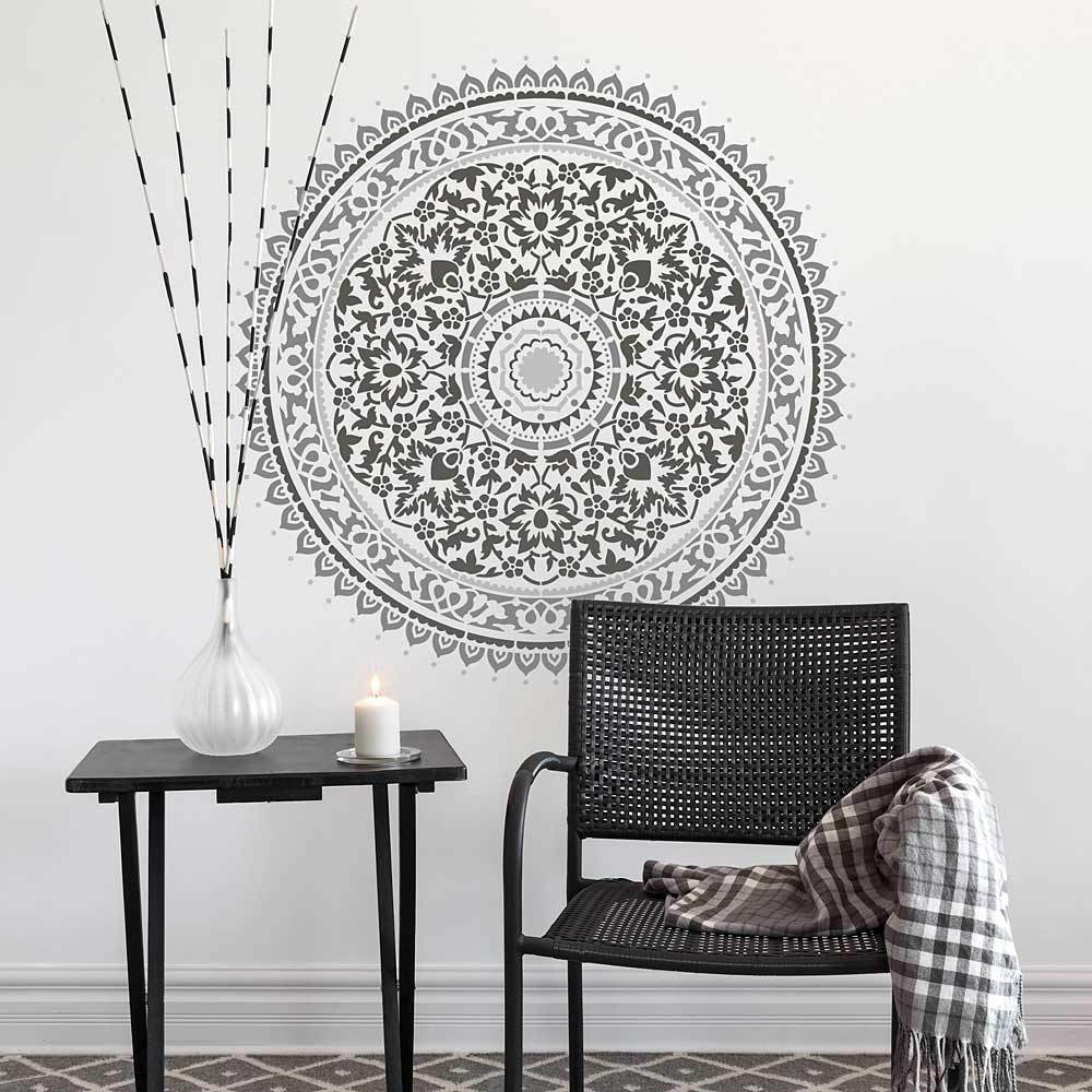 16 Best Diy Stencils Images On Pinterest: Mandala Stencil For Quick And