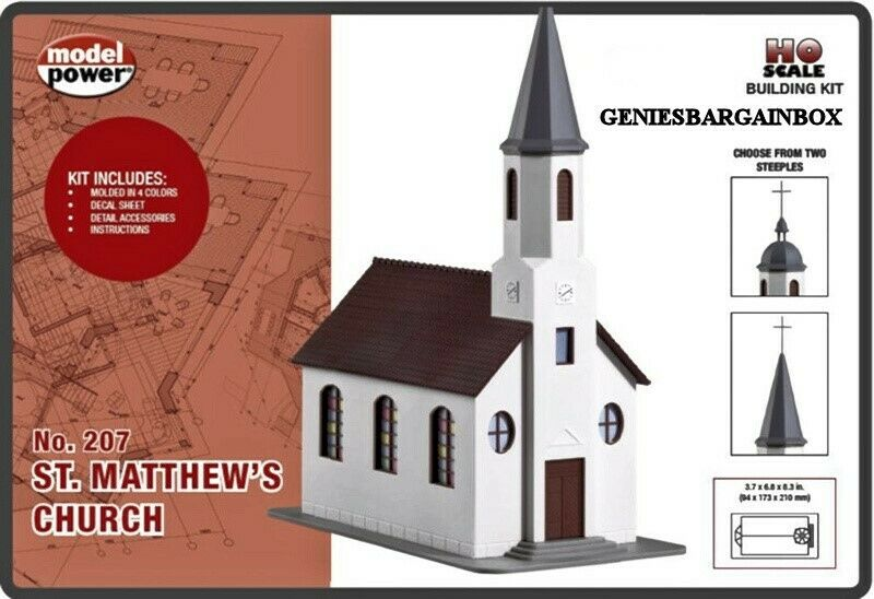 Ho 1 87 Scale St Matthew S Church Building Kit New Sealed