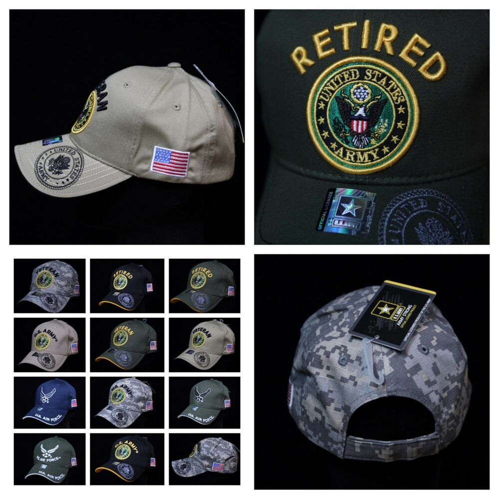 Details about U.S. Army Cap Air Force Veteran Retired Military Hats License  Caps Baseball Hat fbd7a5e8441