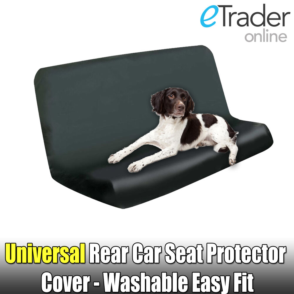 rear black seat cover water resistant dog heavy duty protector universal fit new ebay. Black Bedroom Furniture Sets. Home Design Ideas