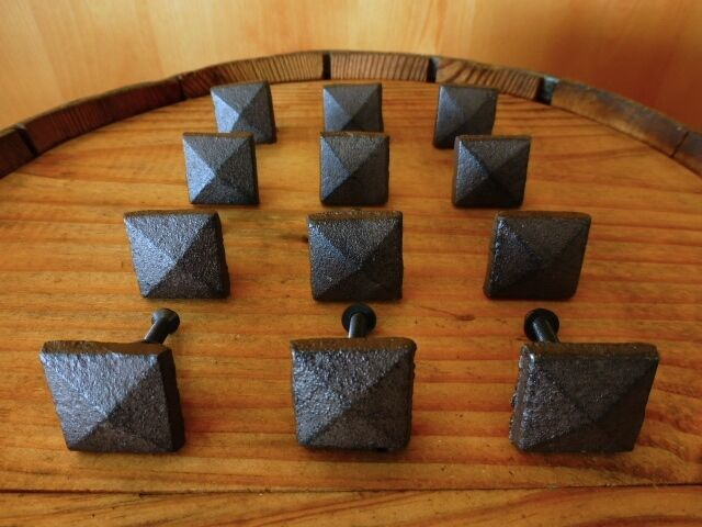 Set 12 Brown Square Shaped 1 Quot Drawer Door Cabinet Knobs