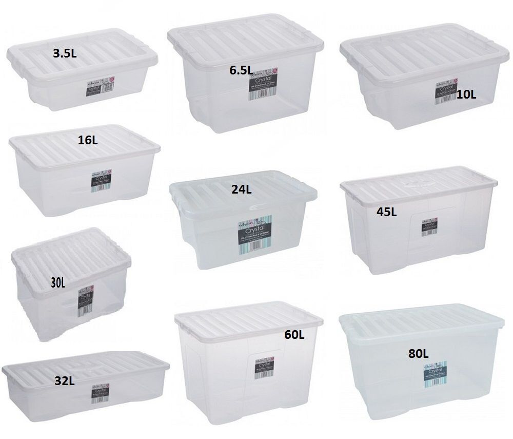 clear strong plastic storage box boxes with lids home. Black Bedroom Furniture Sets. Home Design Ideas