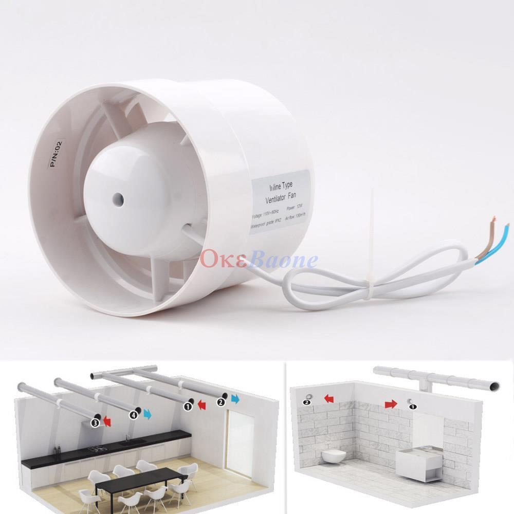 Hot Air Duct Fans : Quot inline duct booster fan cooling exhaust blower air