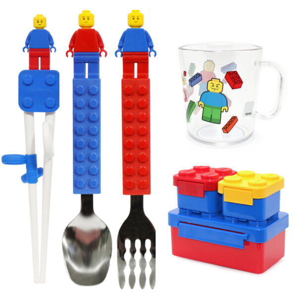 Stackable Block Lunch Box Bento Box Container Toothbrush Children Kids PicnicBox