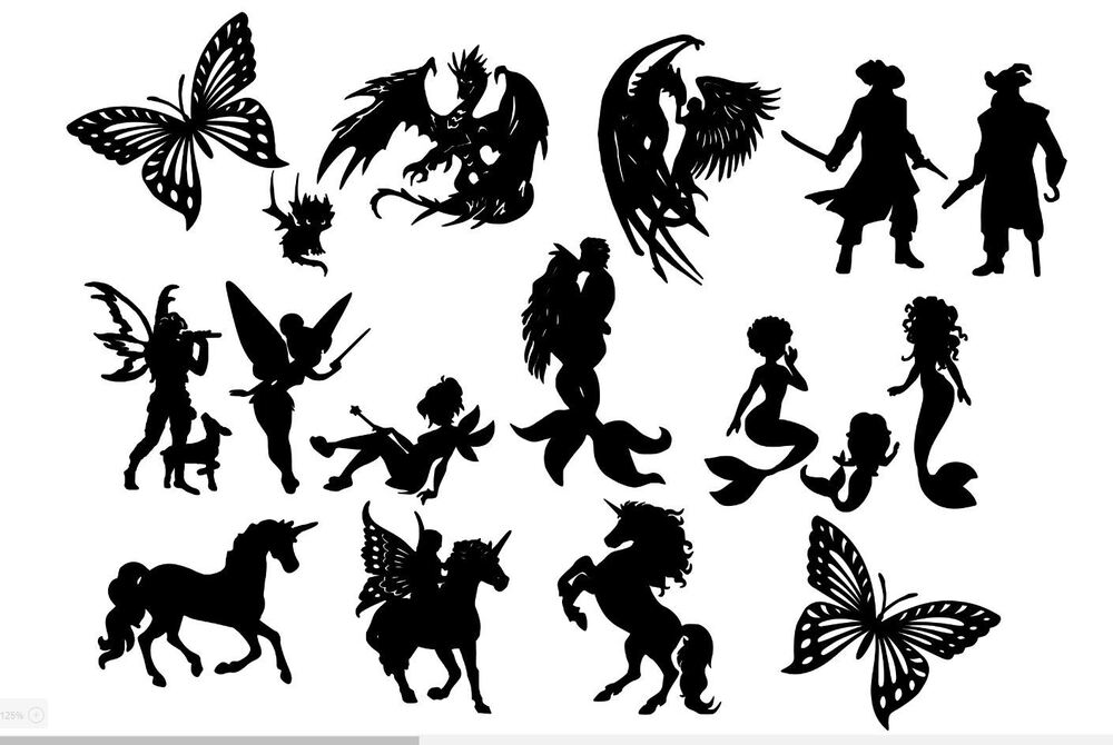 It is an image of Irresistible Fairy Silhouette Printable